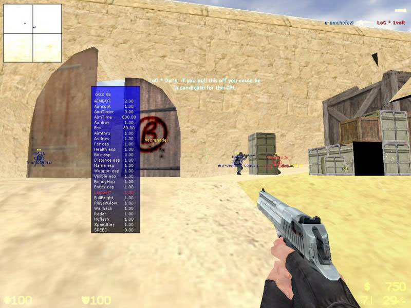 cs OGZ Remake - AMXX Cheats Menu [Counter-Strike 1.6]